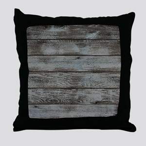 black white barn wood Throw Pillow